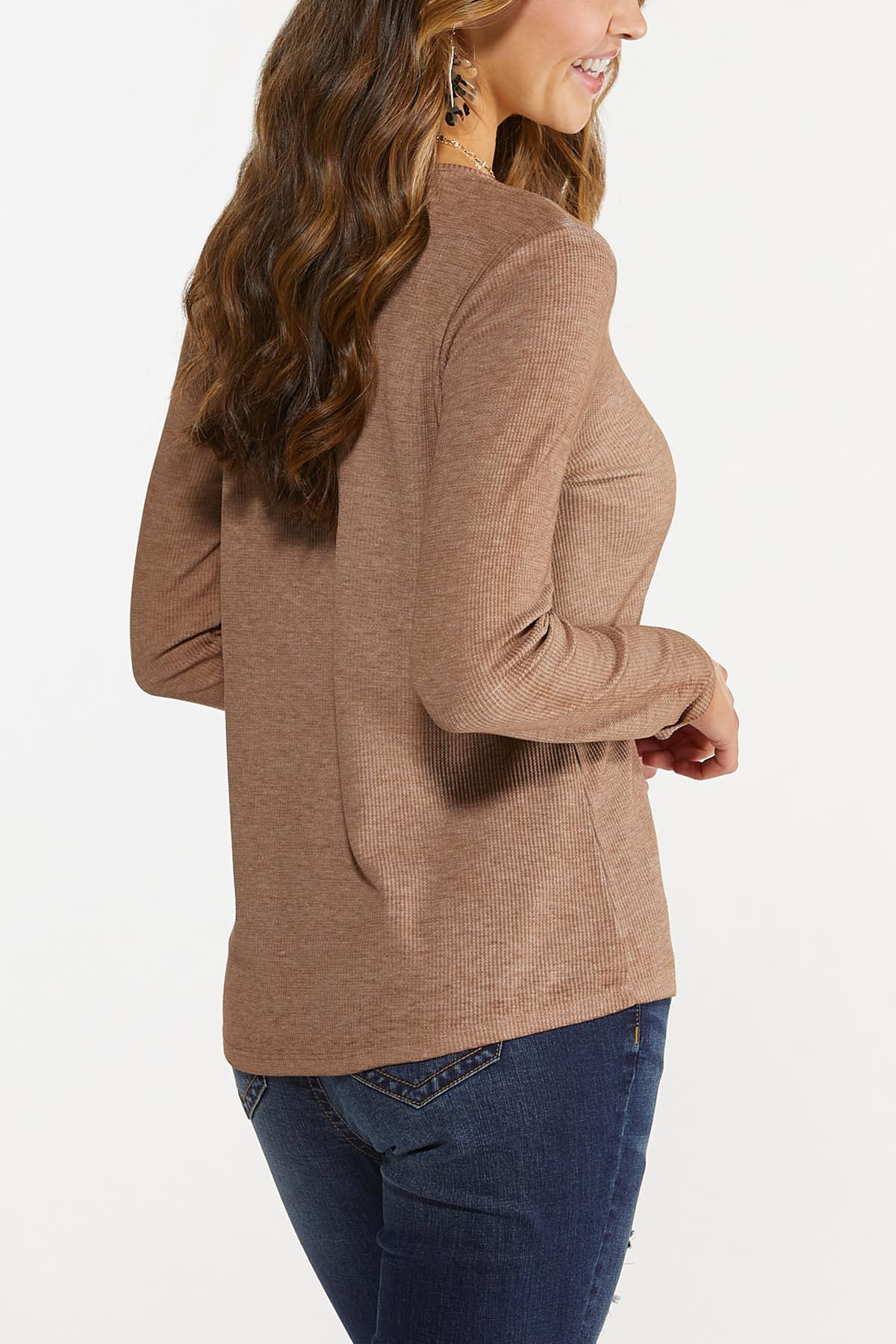 Plus Size Humble And Kind Waffle Top (Item #44688152)