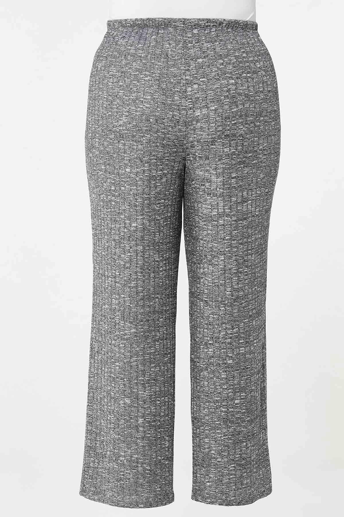 Plus Size Ribbed Knit Pants (Item #44688261)