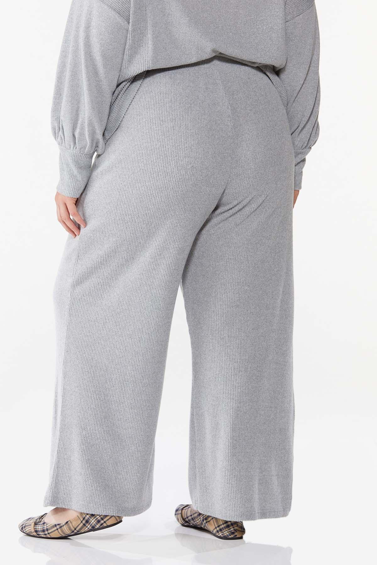 Plus Size Soft Ribbed Pants (Item #44688383)