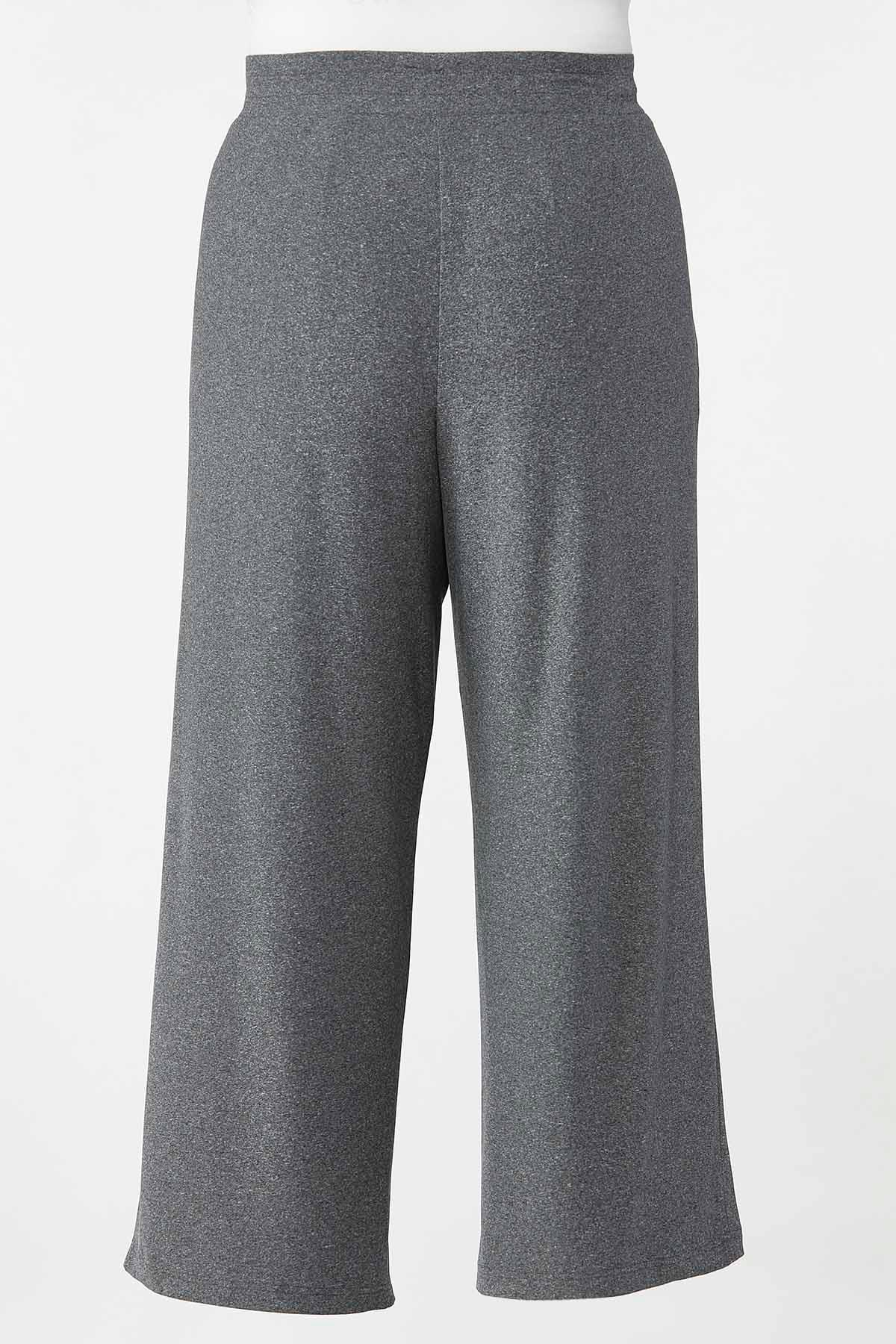 Plus Size Gray Drawstring Pants (Item #44689306)