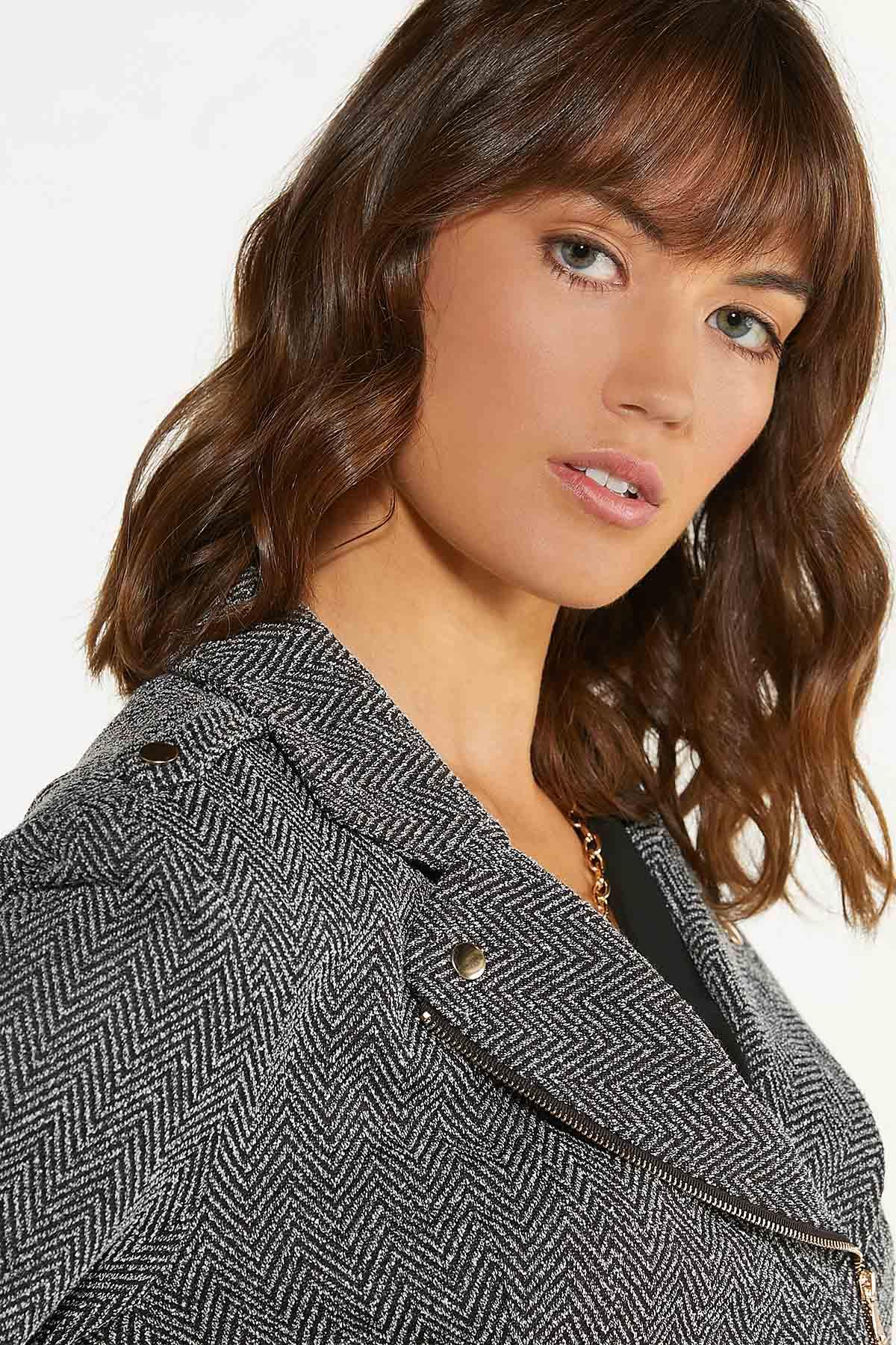 Herringbone Moto Jacket (Item #44690822)