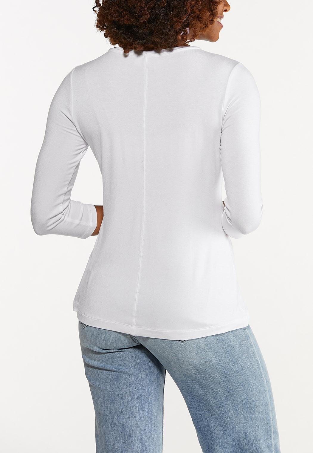 Plus Size Solid Scoop Neck Top (Item #44690905)