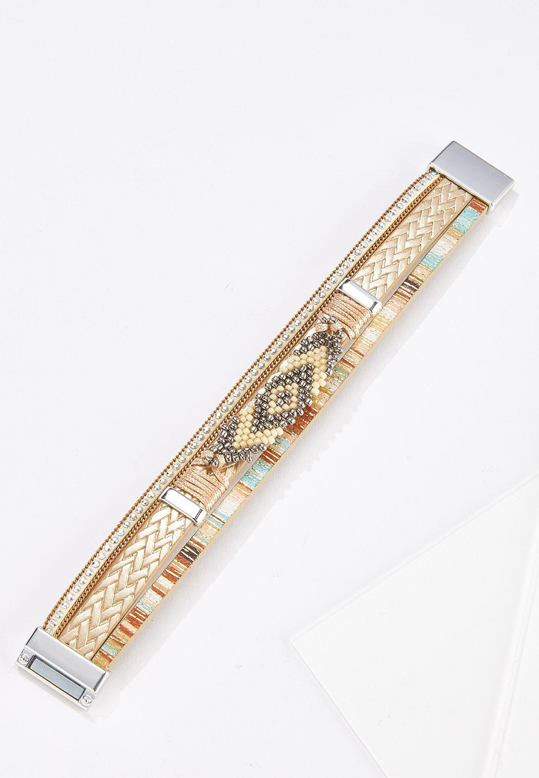 Aztec Bead Magnetic Bracelet (Item #44691417)