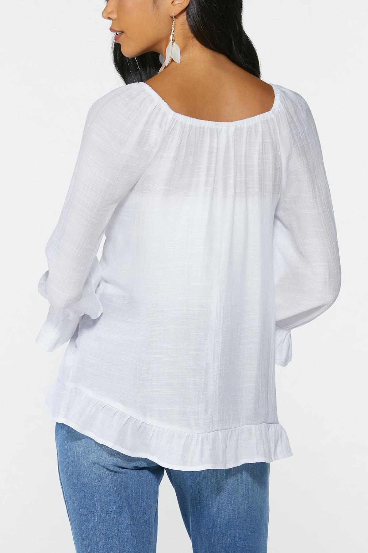Plus Size Cinched Front Top (Item #44692351)