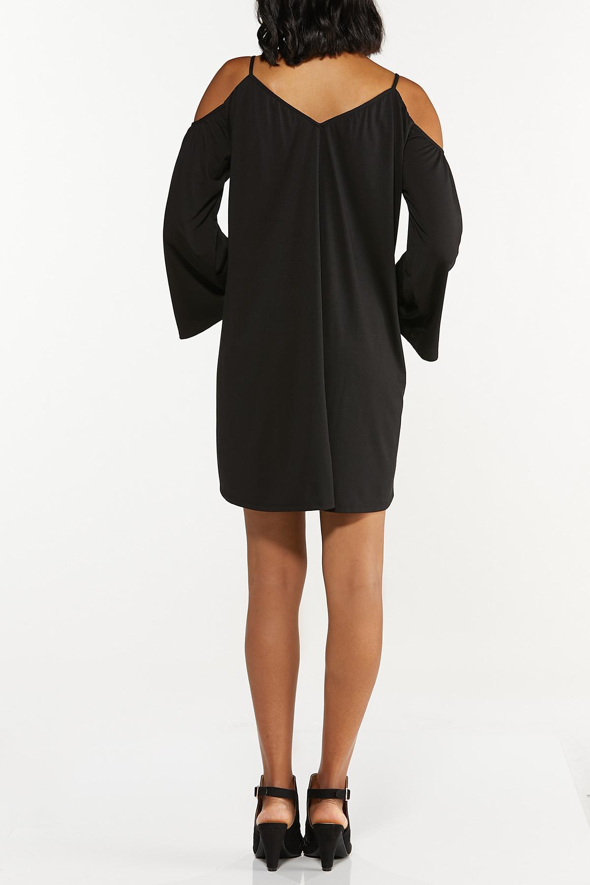 Cold Shoulder Swing Dress (Item #44692848)