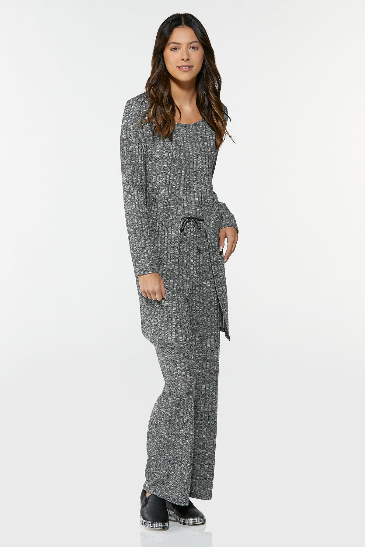 Plus Size Ribbed Cardigan (Item #44693058)