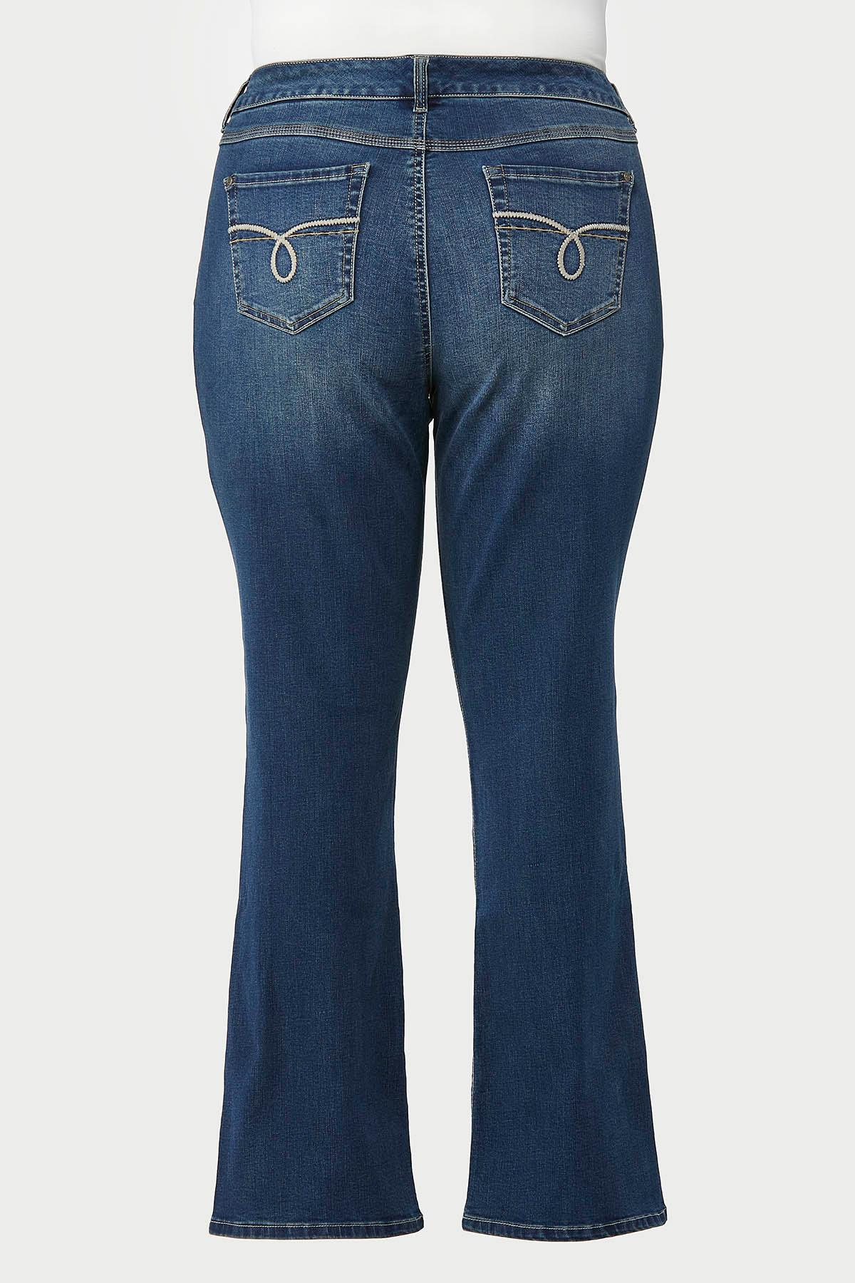 Plus Size Slimming Bootcut Jeans (Item #44694009)
