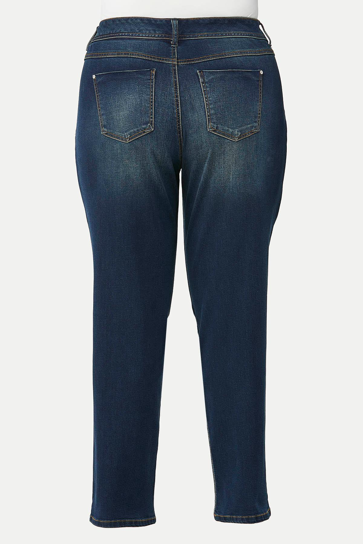 Plus Size Curvy Straight Leg Jeans (Item #44694048)