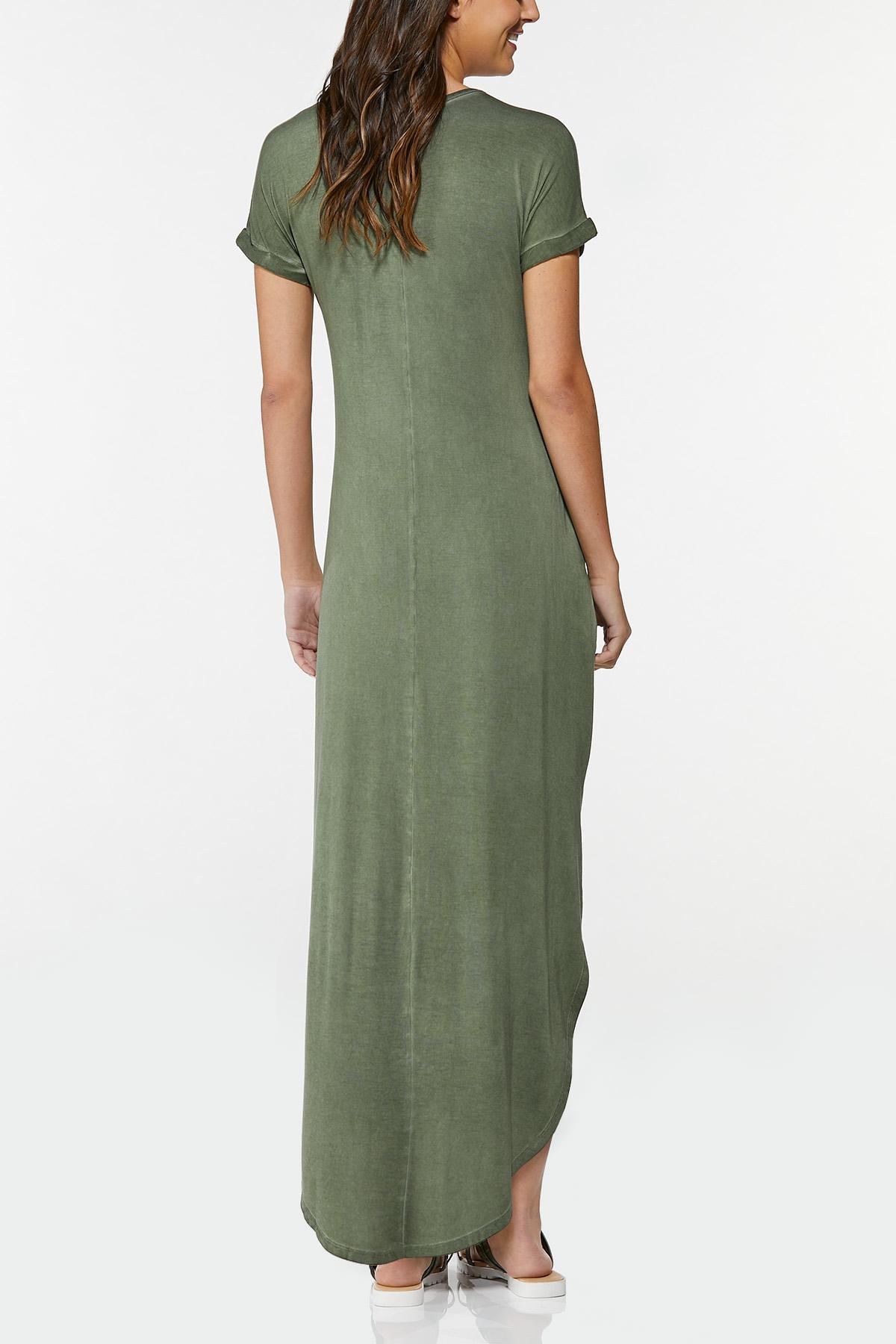 Plus Size Rise Above Maxi Shirt Dress (Item #44695370)