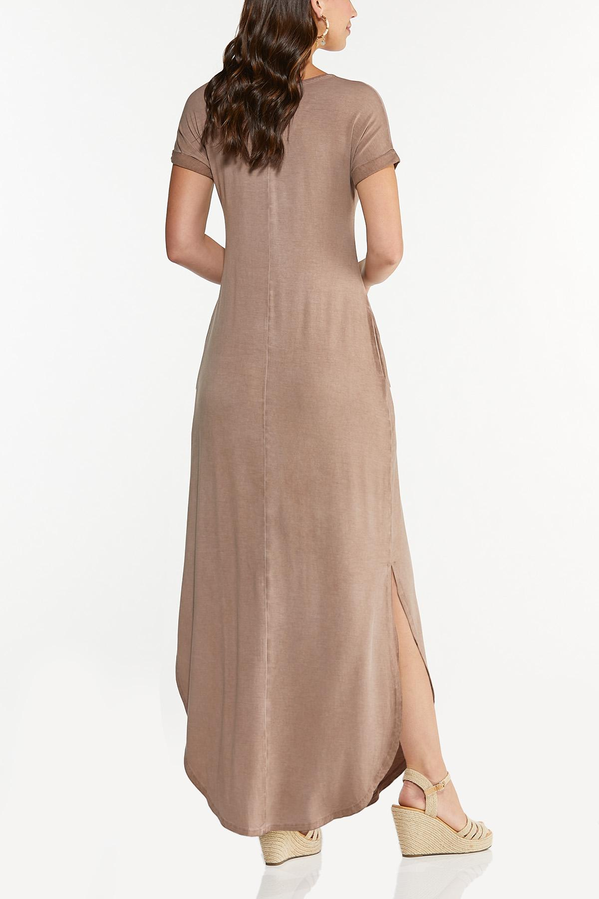 Plus Size Inspirational Shirt Maxi Dress (Item #44695495)