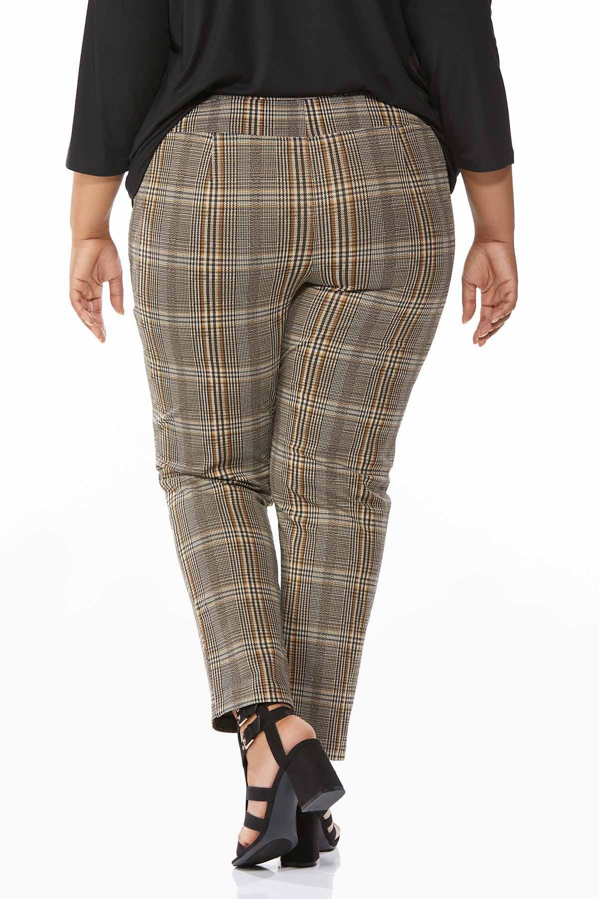 Plus Size Plaid Pants (Item #44696923)
