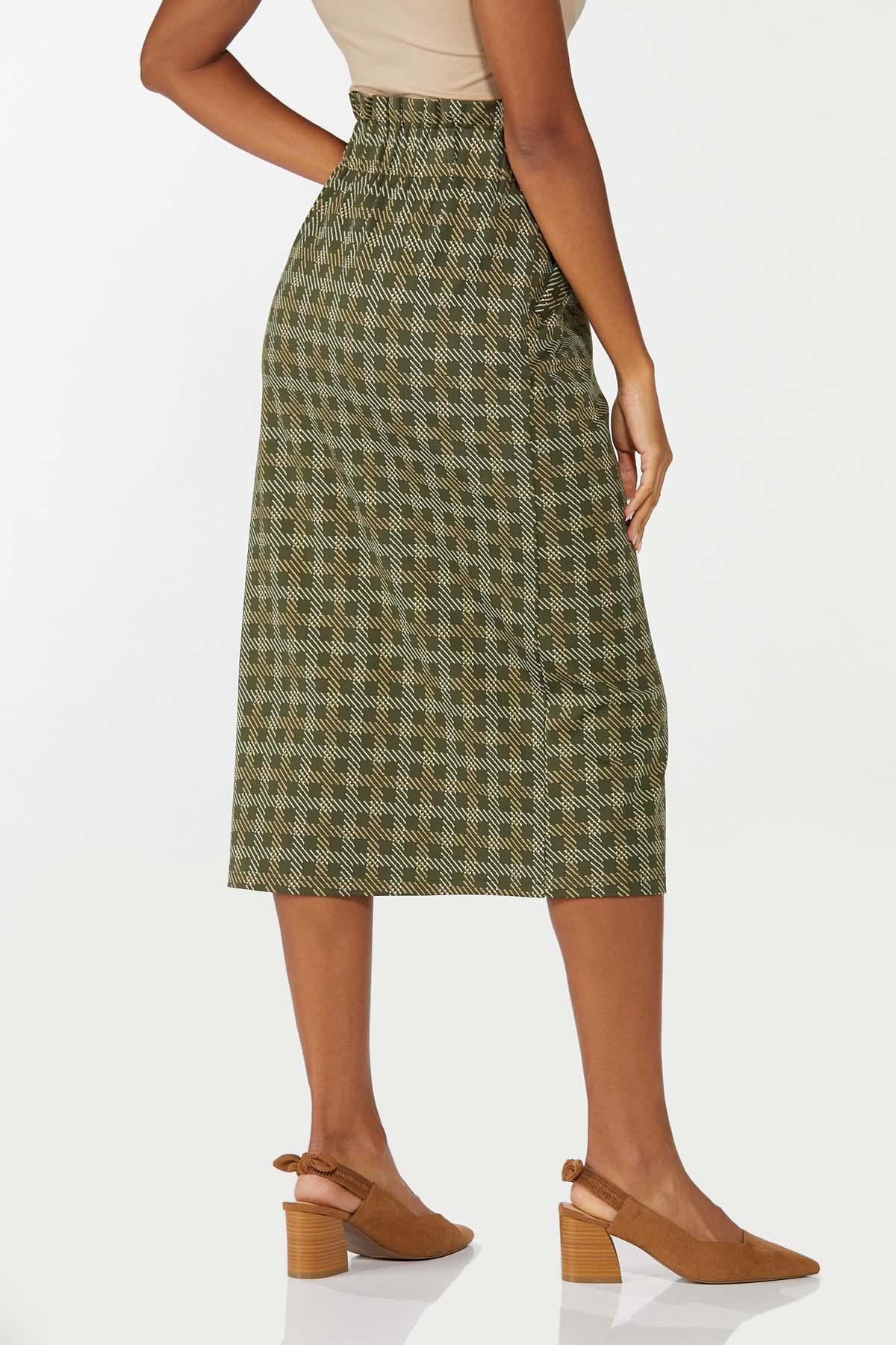 Ruffled Plaid Pencil Skirt (Item #44697011)