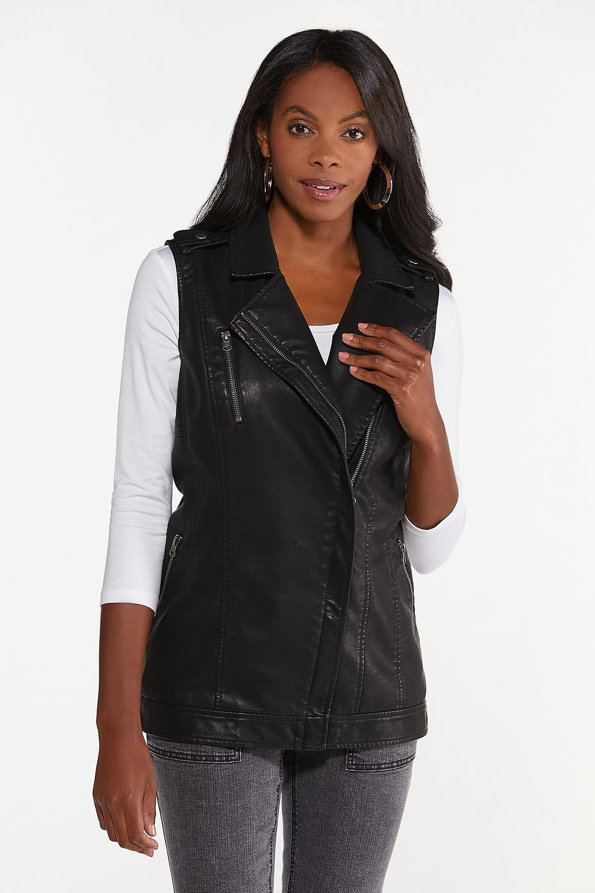 Faux Leather Vest (Item #44697100)