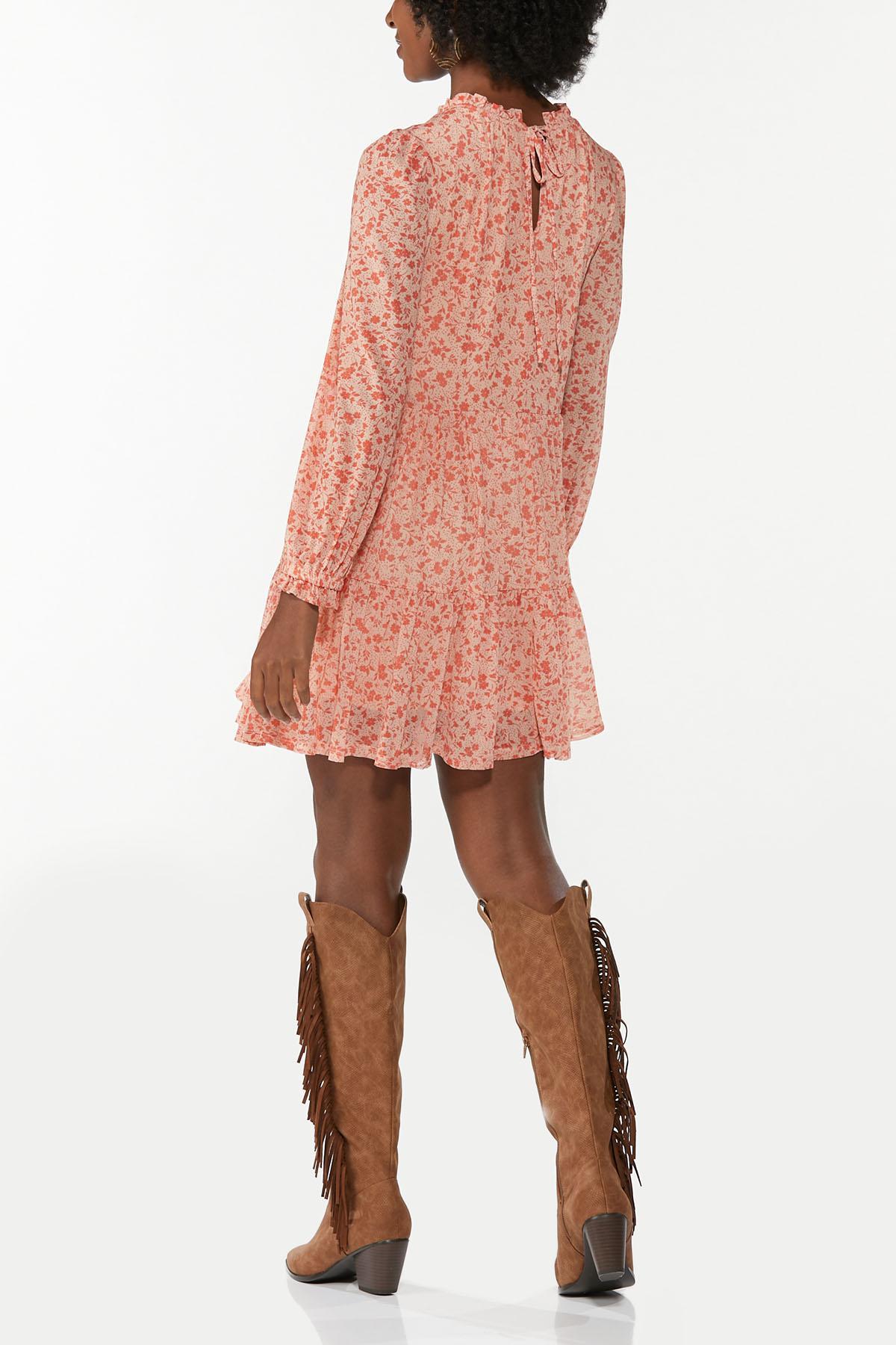 Floral Mesh Babydoll Dress (Item #44697641)