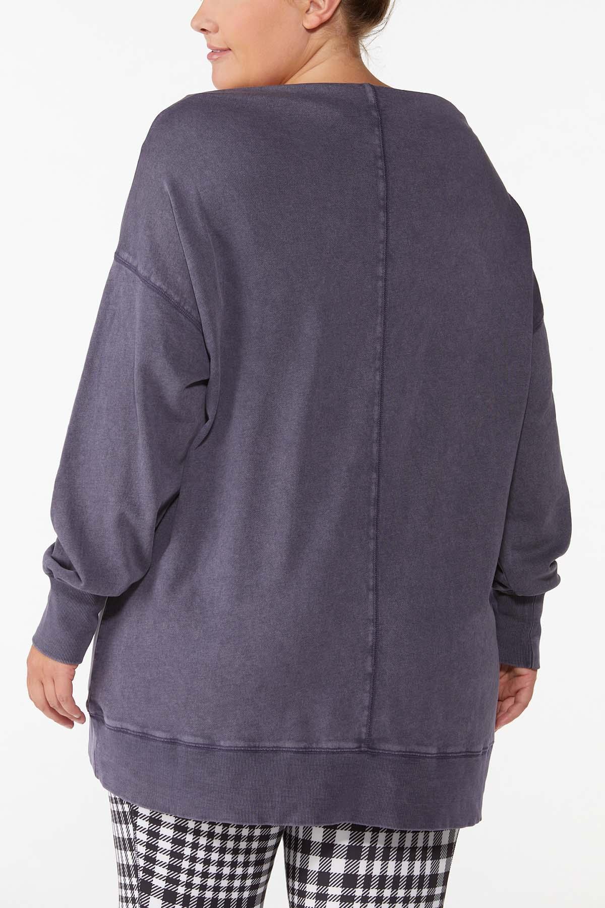 Plus Size Slouch Oversized Sweatshirt (Item #44698286)
