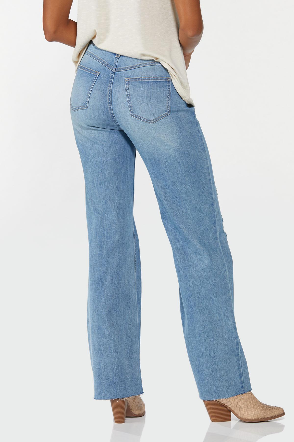 Distressed Wide Leg Jeans (Item #44698621)