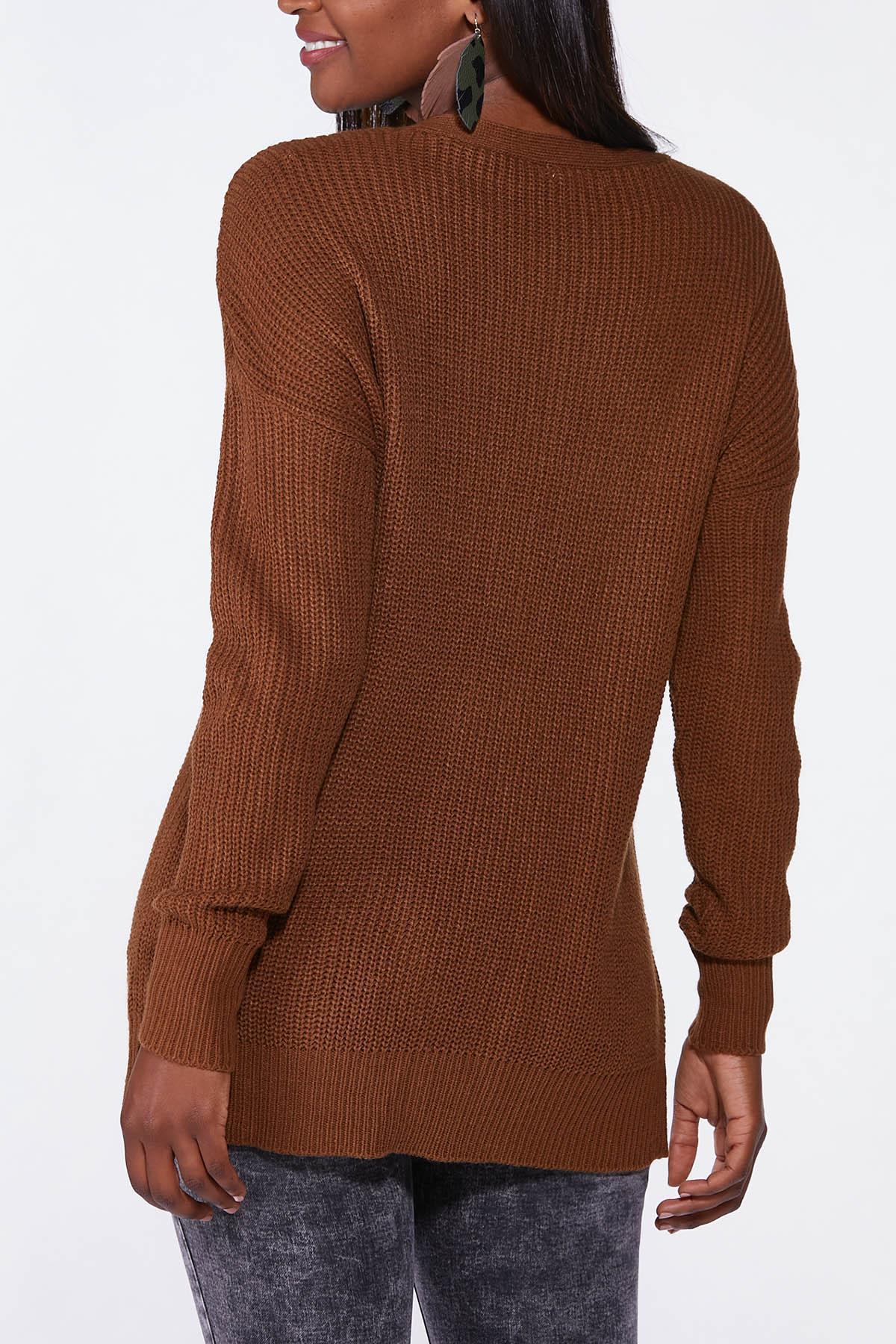 Plus Size Cutout Tunic Sweater (Item #44699638)