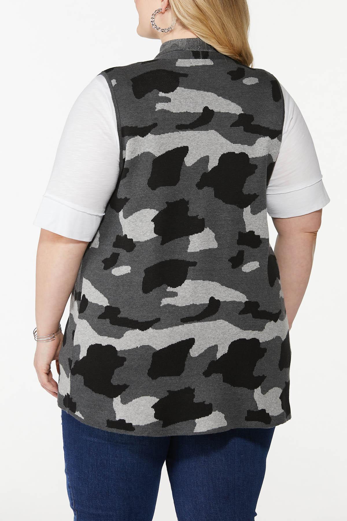 Plus Size Camo Sweater Vest (Item #44700252)