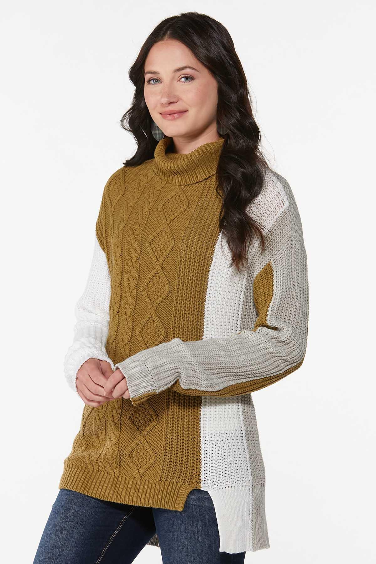 Colorblock Turtleneck Sweater (Item #44700481)
