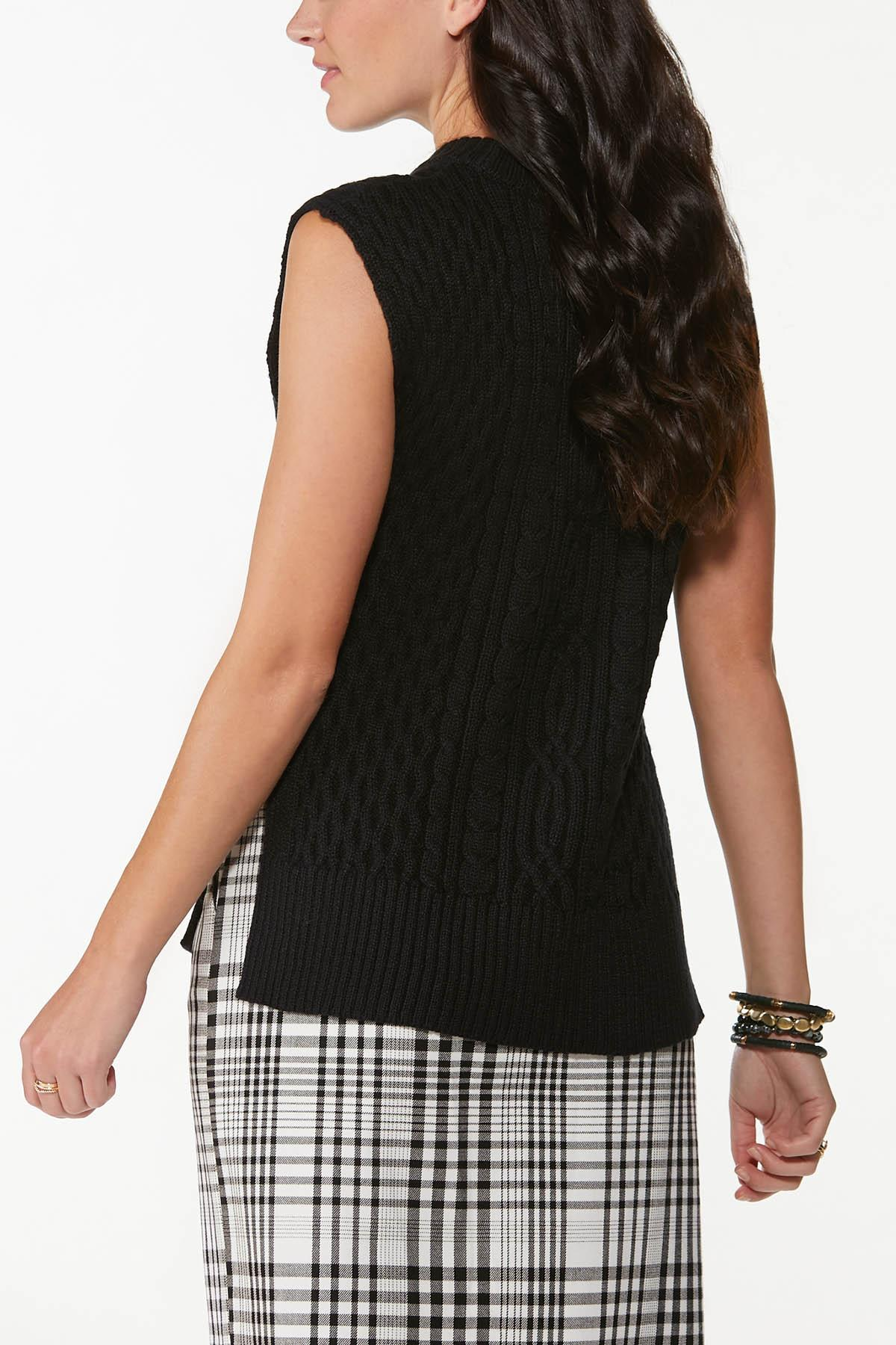 Cable Sleeveless Sweater (Item #44700491)