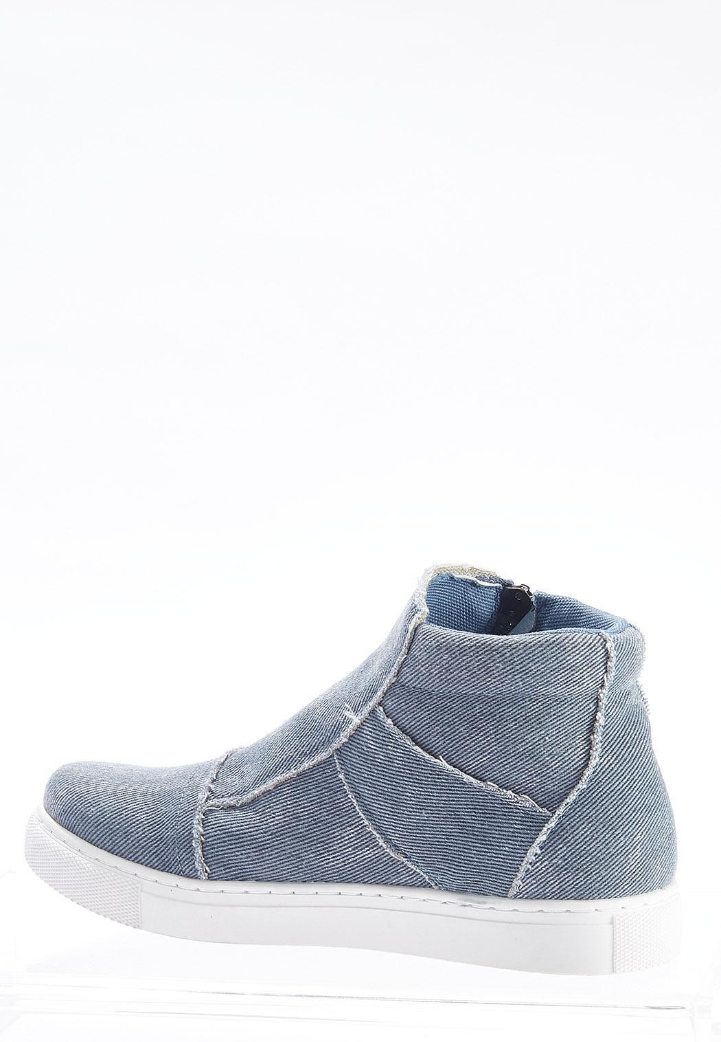 Denim High-Top Sneakers (Item #44702399)