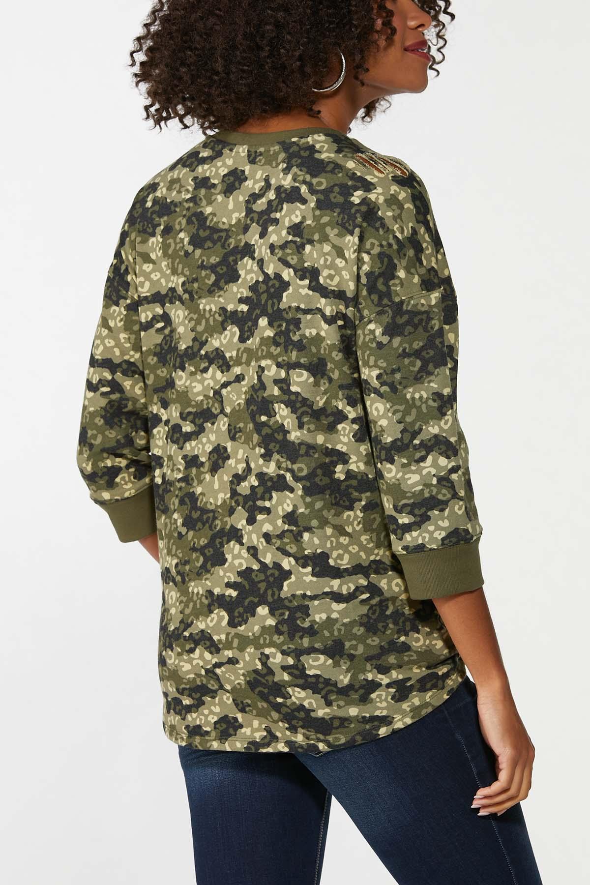 Distressed Camo Animal Sweatshirt (Item #44702850)