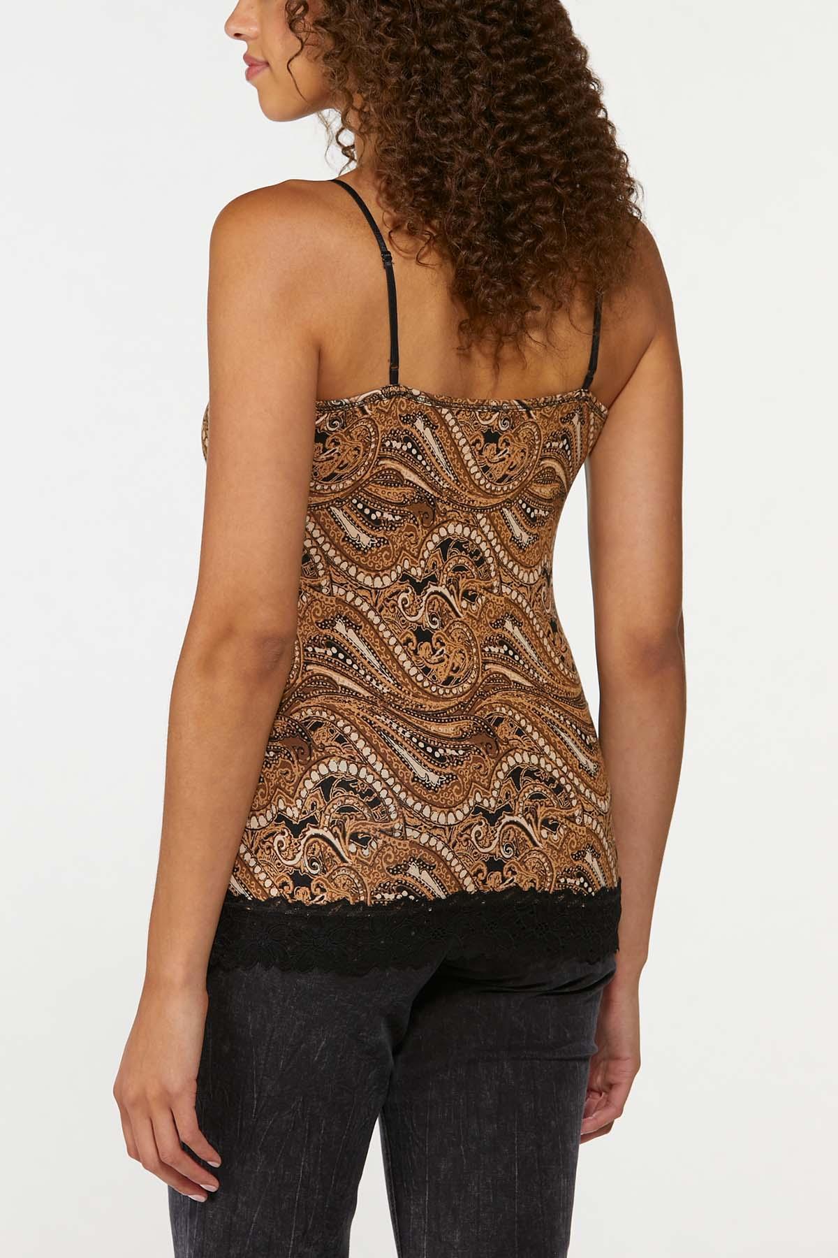 Plus Size Lace Trim Cami (Item #44704270)