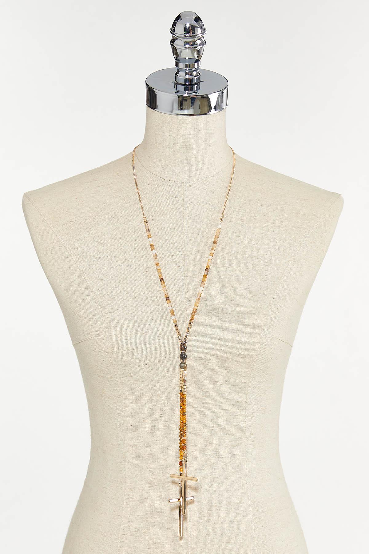 Beaded Cross Necklace (Item #44704942)