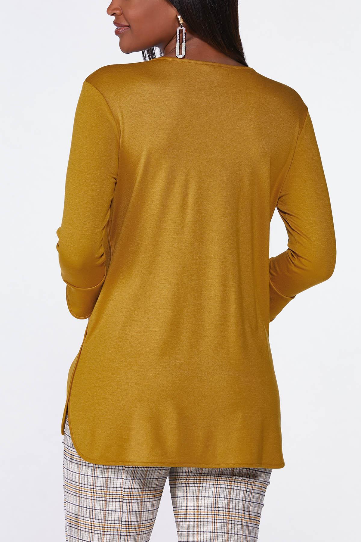 Plus Size Zip Neck Pullover Top (Item #44705806)
