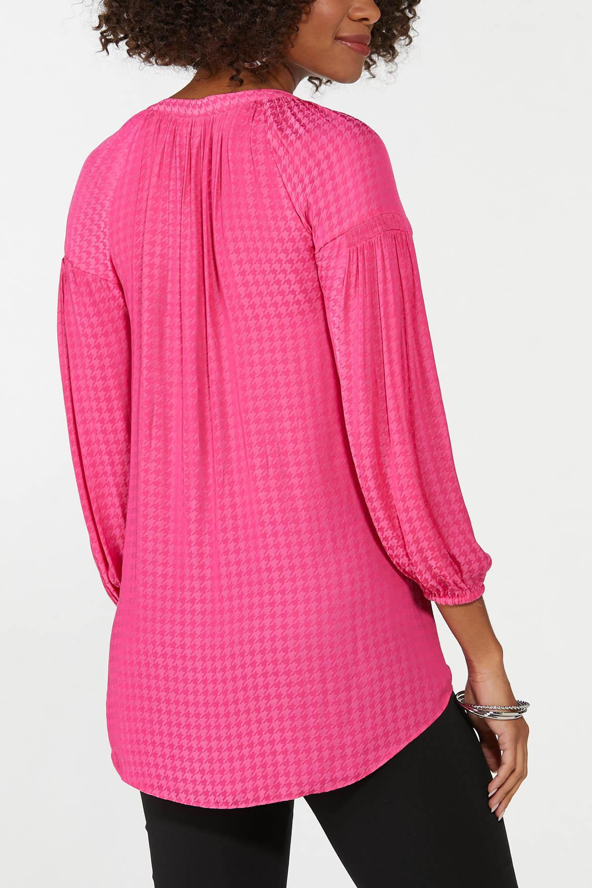 Plus Size Pink Textured Tunic (Item #44706612)