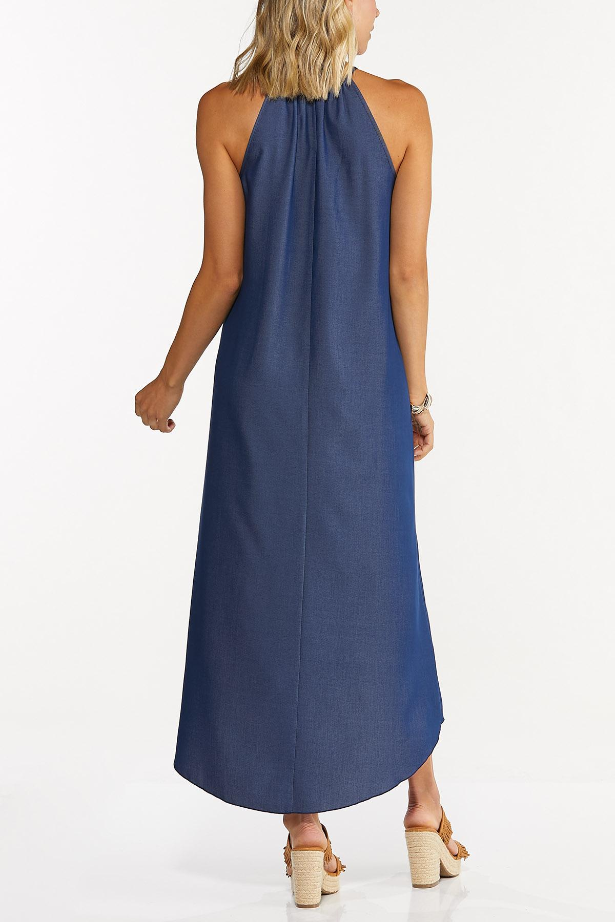 Embellished Chambray High-Low Dress (Item #44707762)