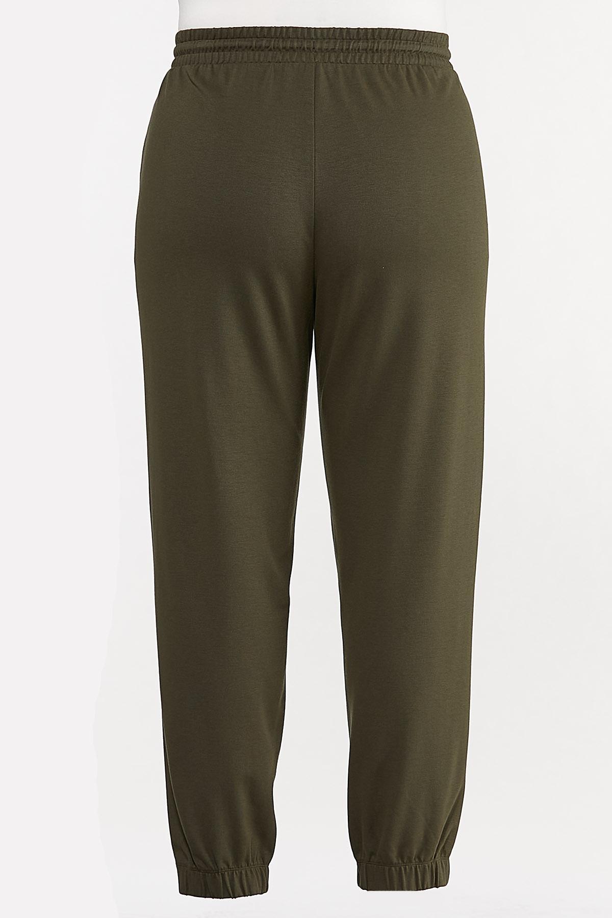 Plus Size Ponte Joggers (Item #44709130)
