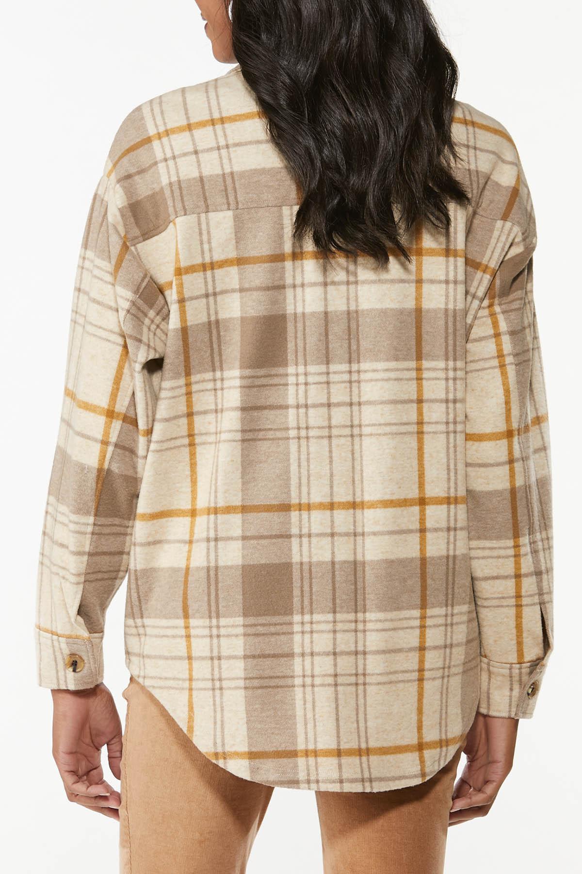 Fleece Plaid Shacket (Item #44709492)
