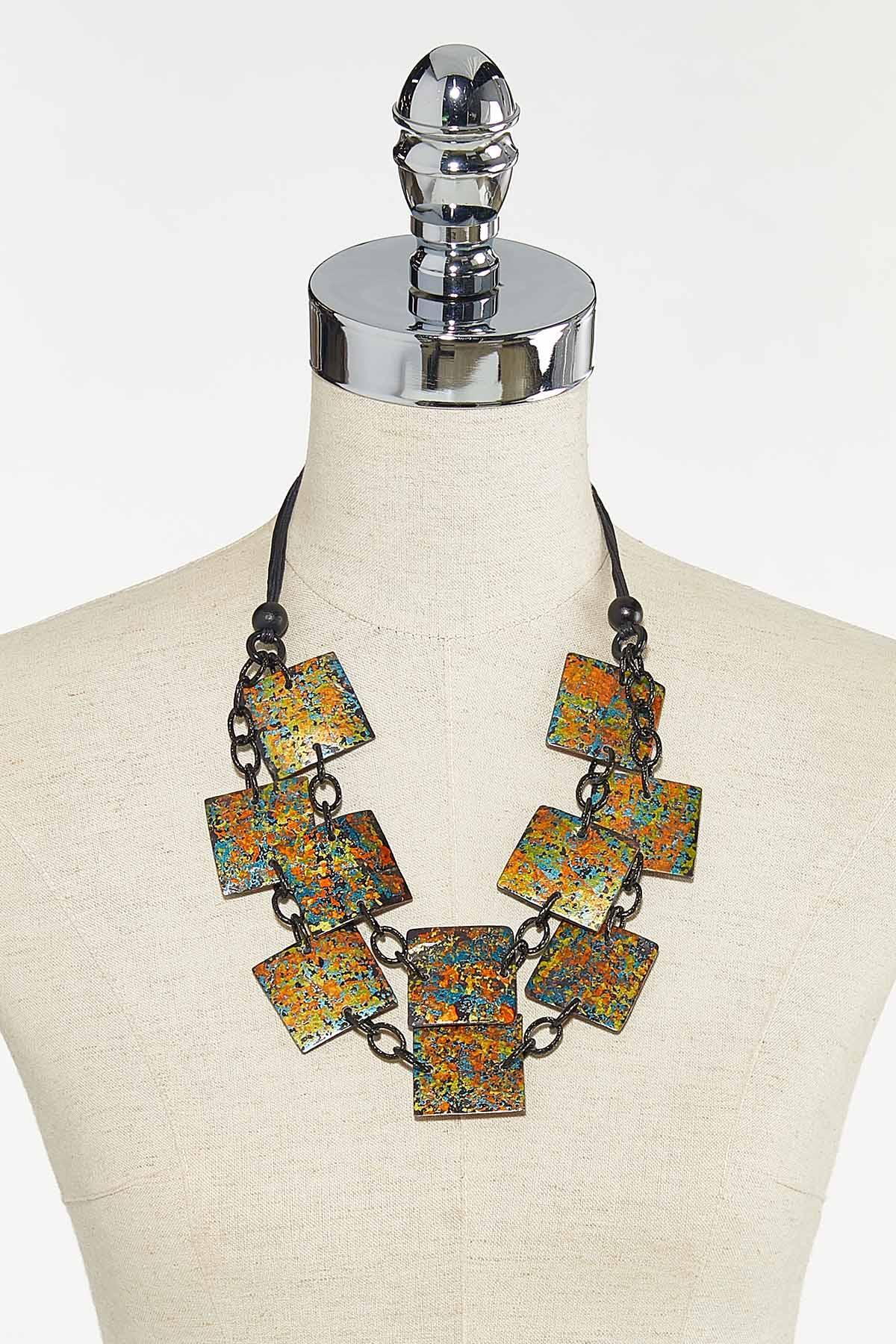Paint Splatter Square Necklace (Item #44710927)