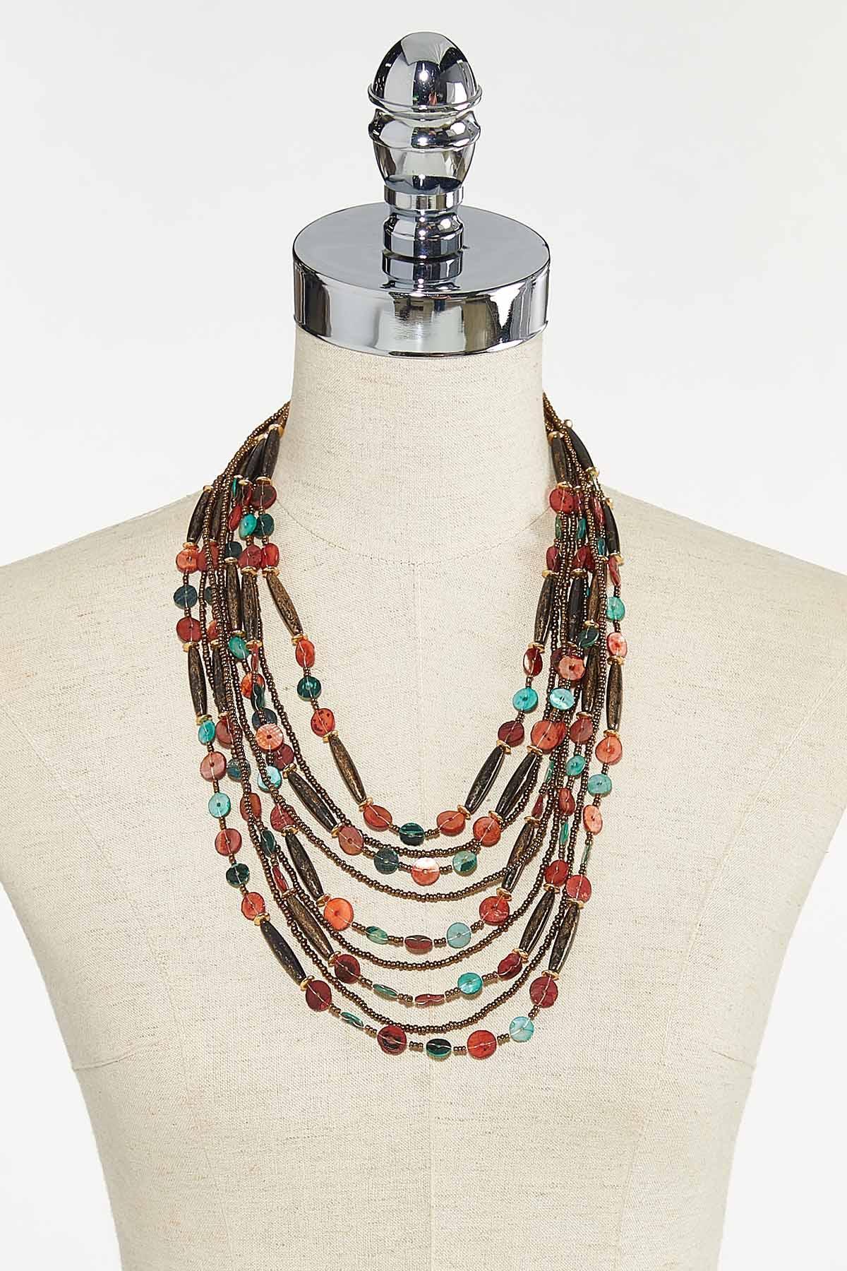 Layered Multi Bead Necklace (Item #44710929)