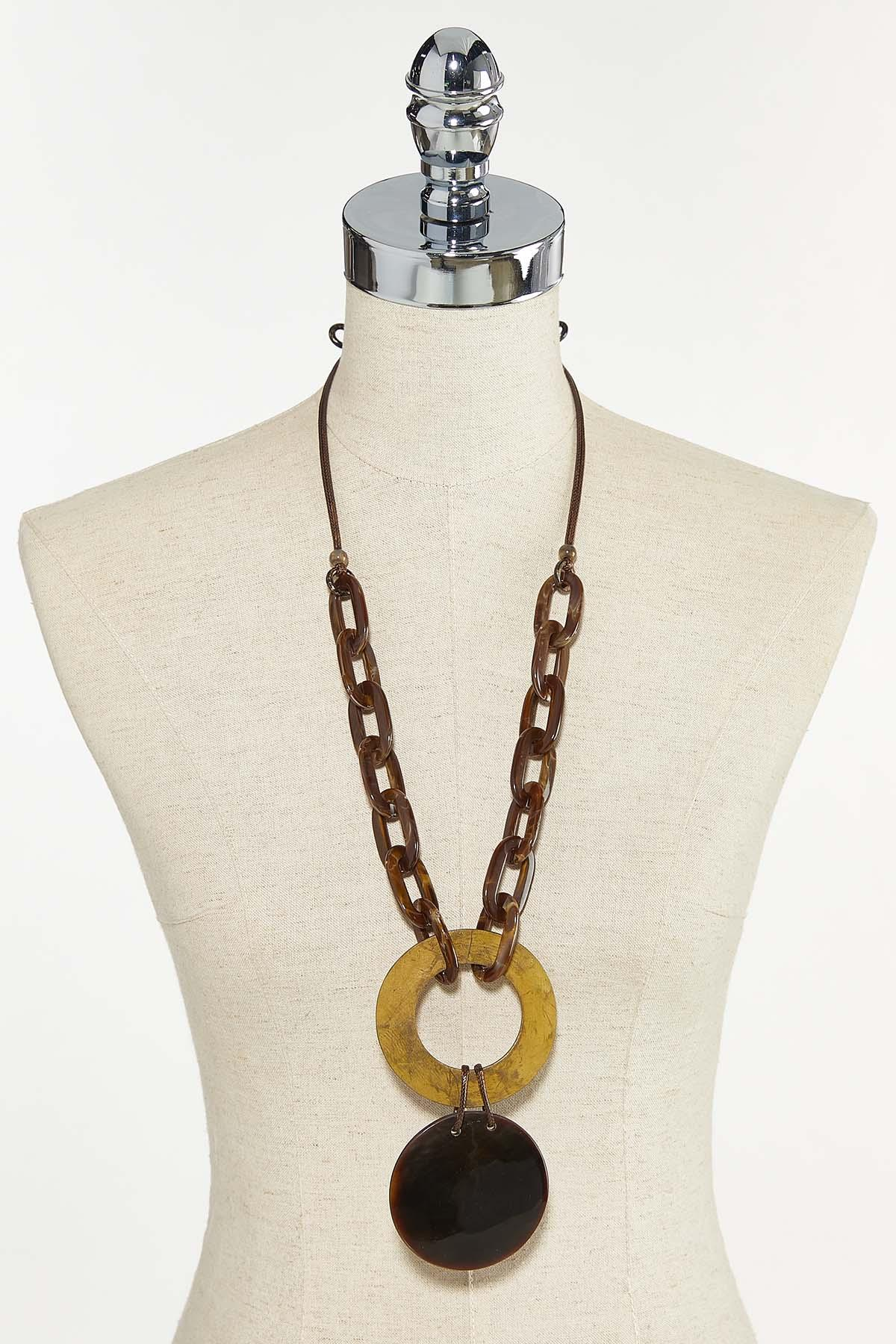 Resin Chain Pendant Necklace (Item #44711019)