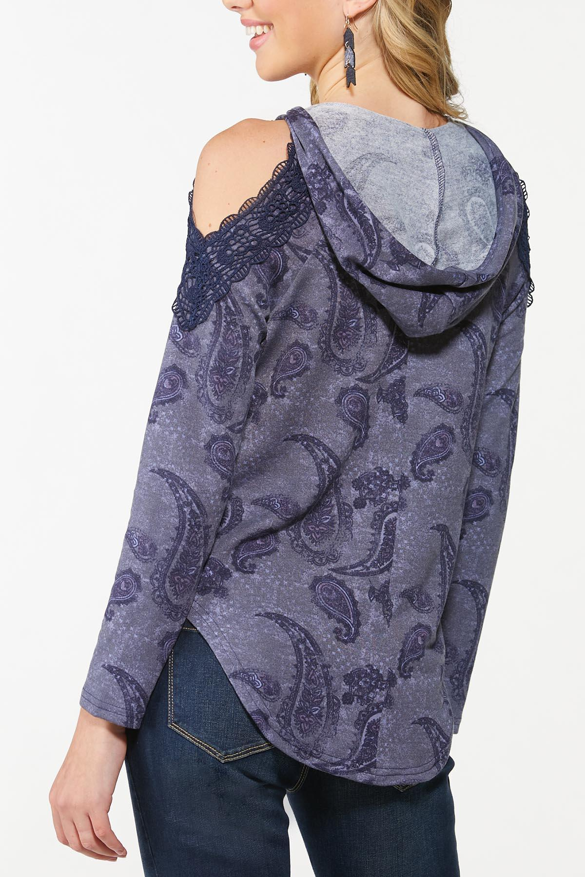 Lacy Paisley Cold Shoulder Top (Item #44711319)
