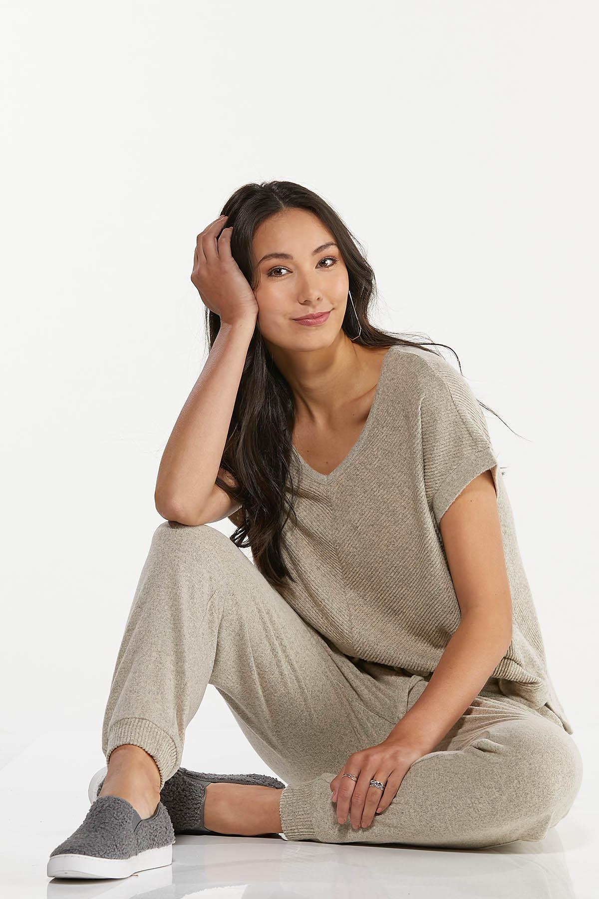 Oatmeal Ribbed Top (Item #44711521)