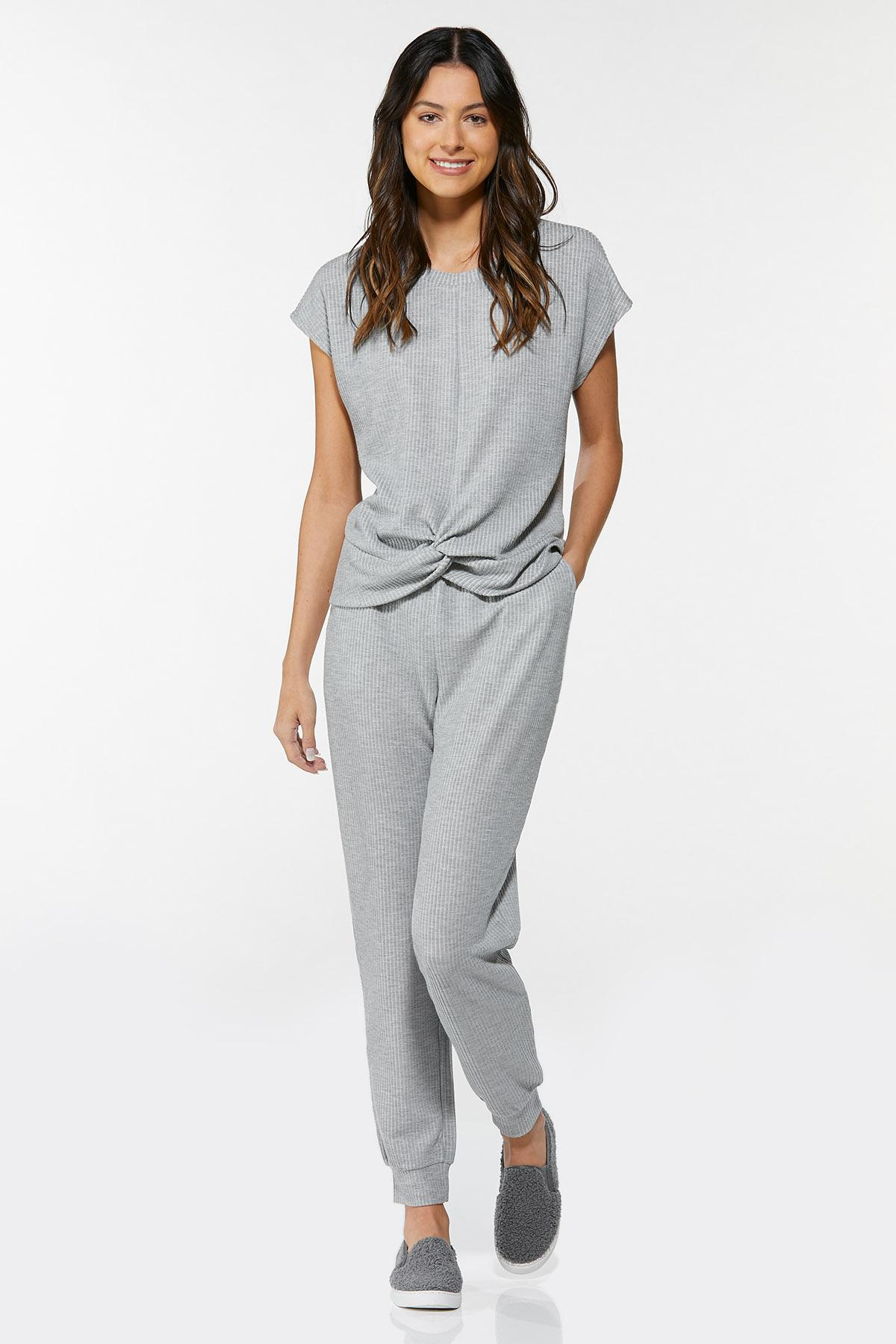 Gray Twisted Ribbed Top (Item #44711550)