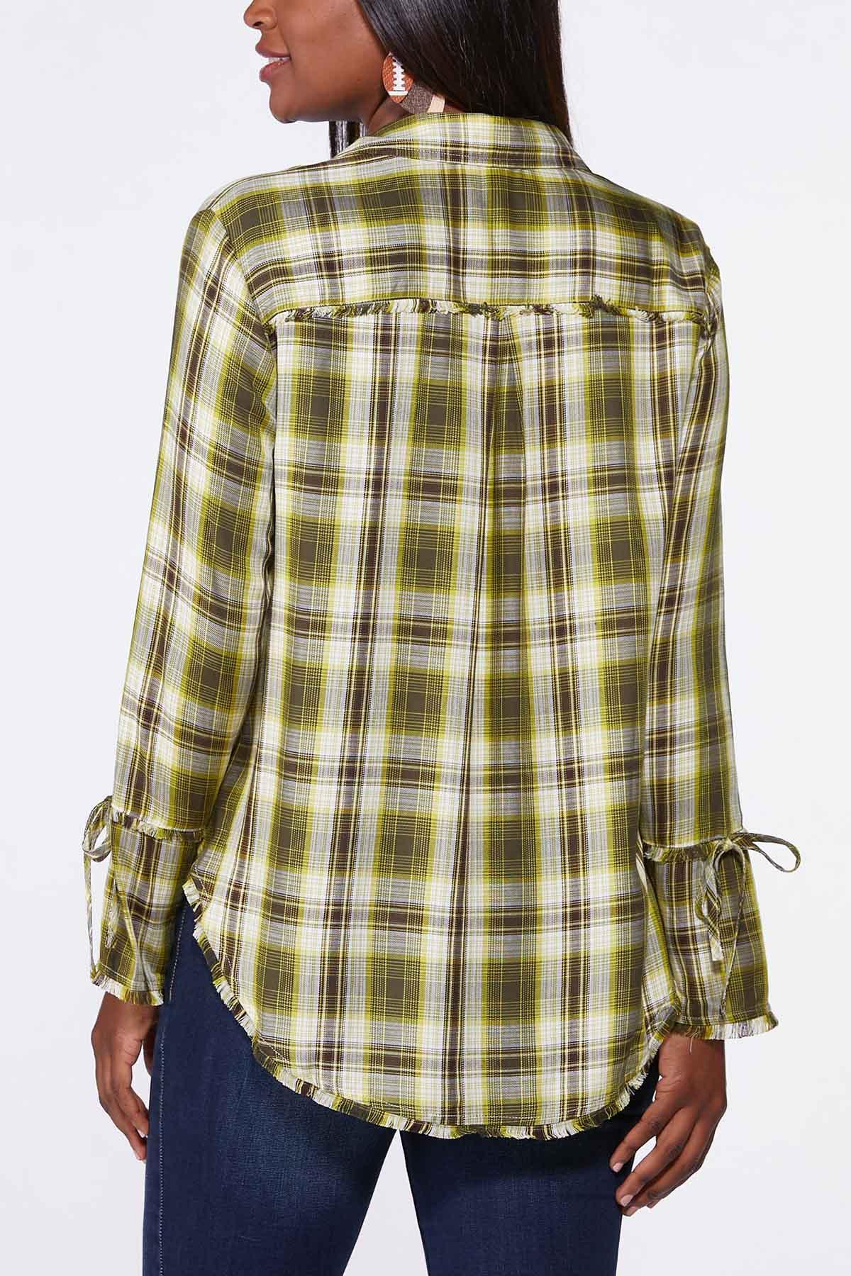 Plaid Bell Sleeve Tunic (Item #44712340)
