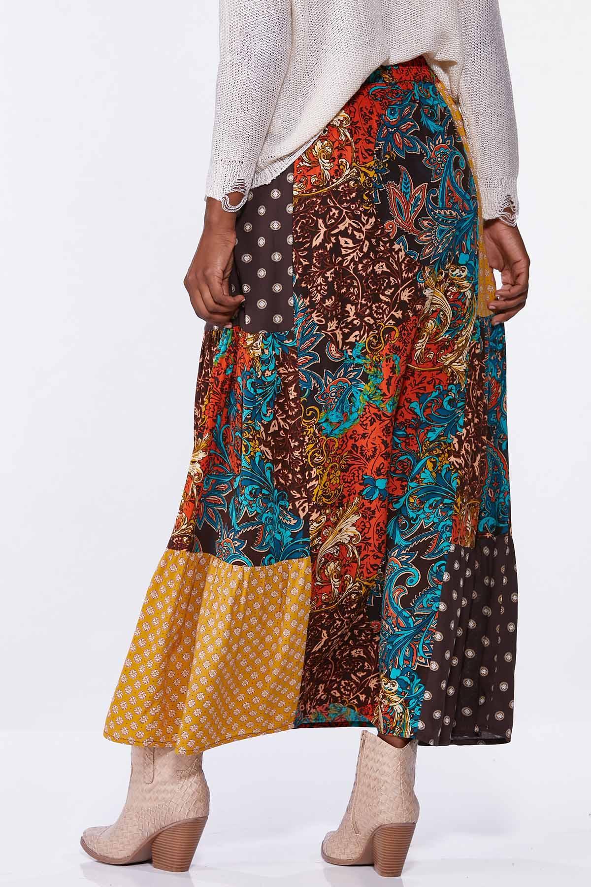 Autumn Patchwork Maxi Skirt (Item #44713323)