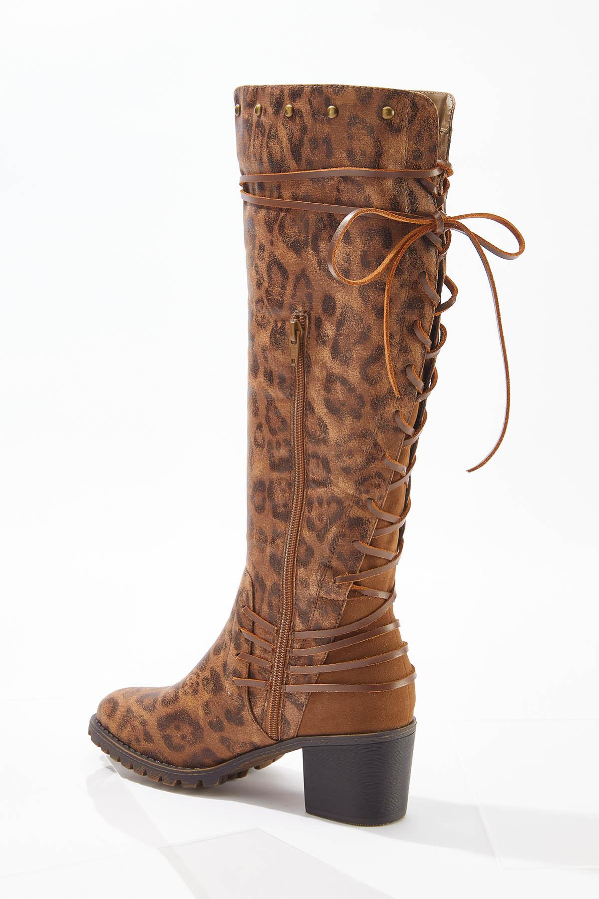 Wide Width Lace Up Back Tall Boots (Item #44713481)