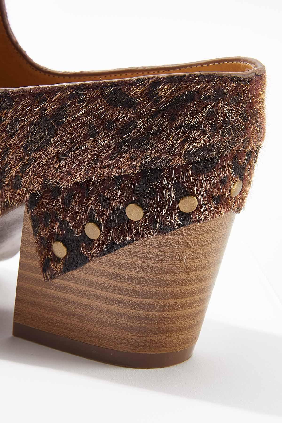 Wide Width Faux Fur Heeled Mules (Item #44714419)