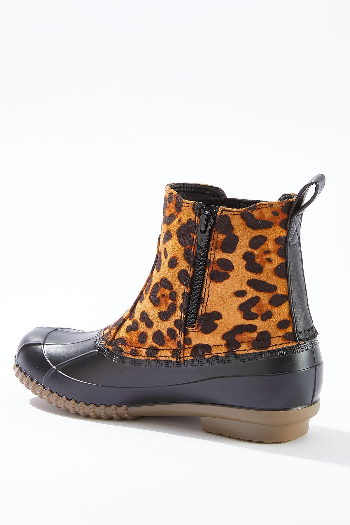Leopard Panel Duck Boots (Item #44714471)