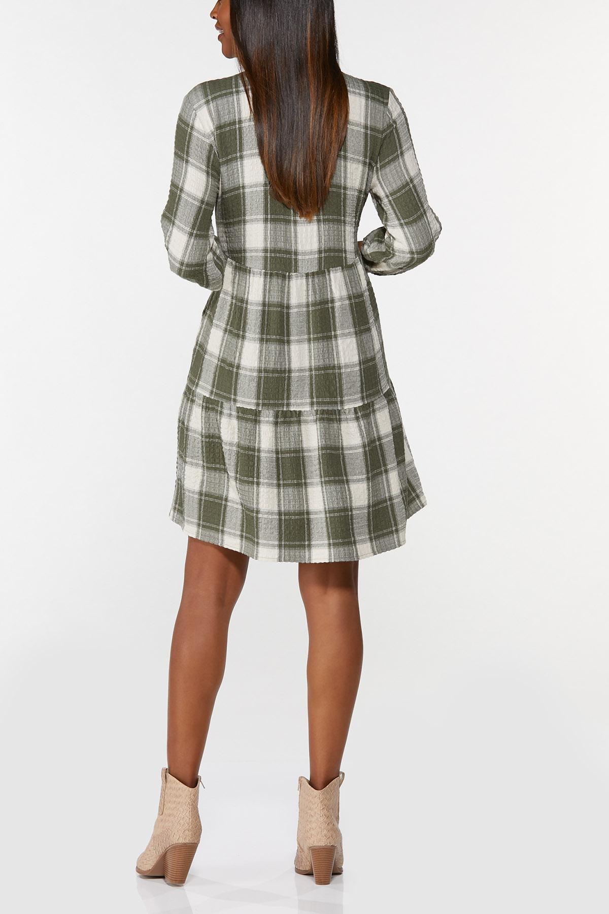 Plaid Babydoll Shirt Dress (Item #44714853)