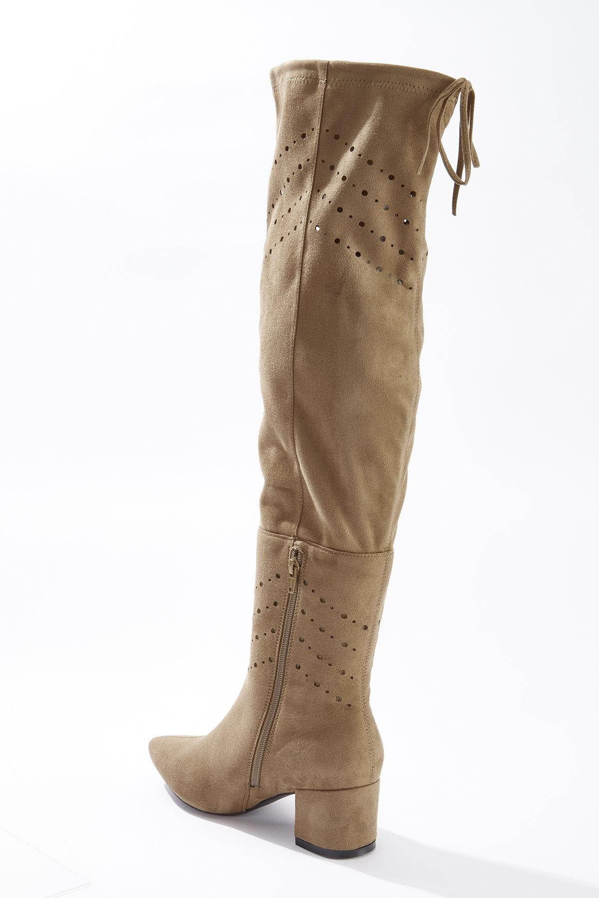 Wide Width Laser Cut Over The Knee Boots (Item #44715256)