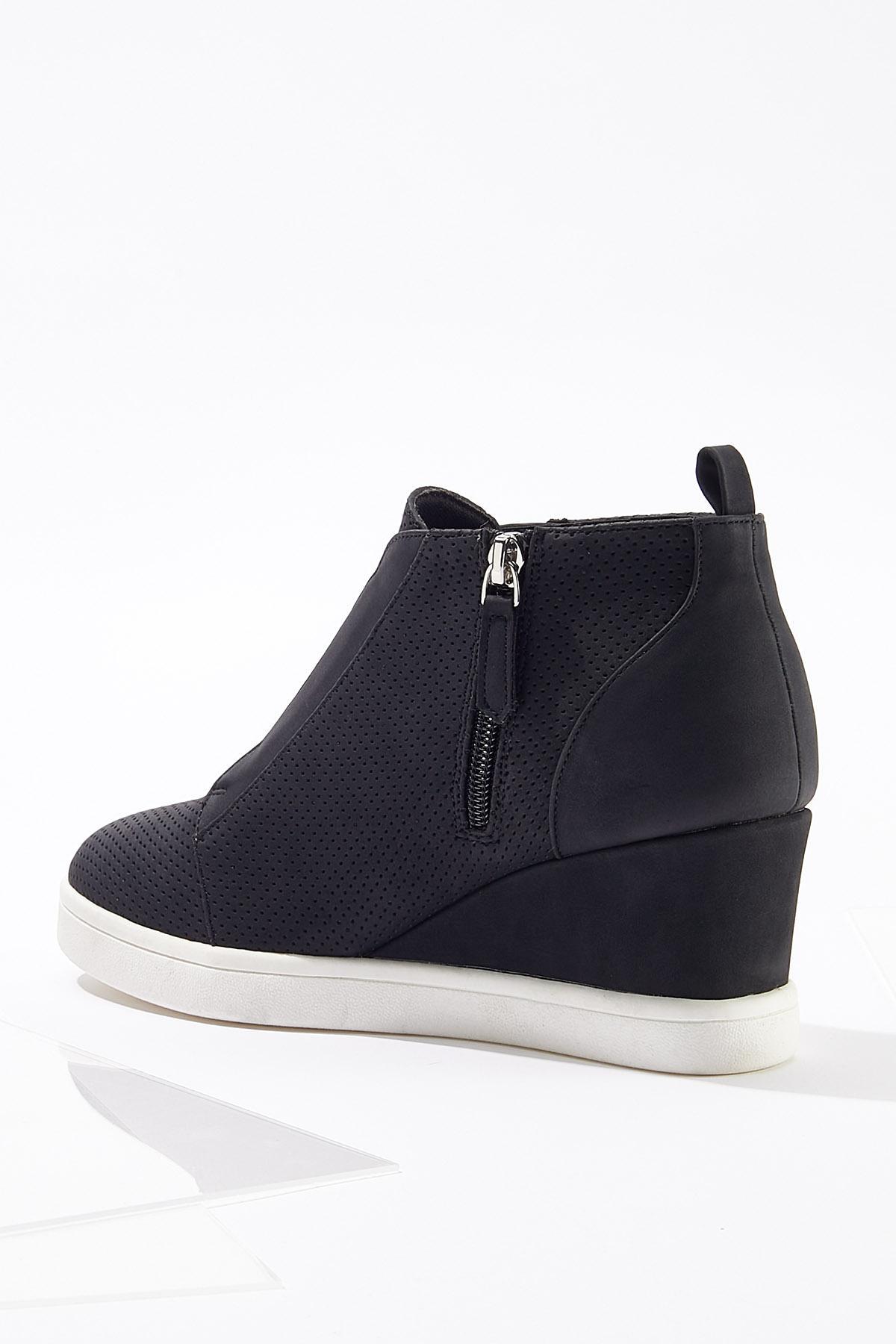 Perforated Wedge Sneakers (Item #44715404)
