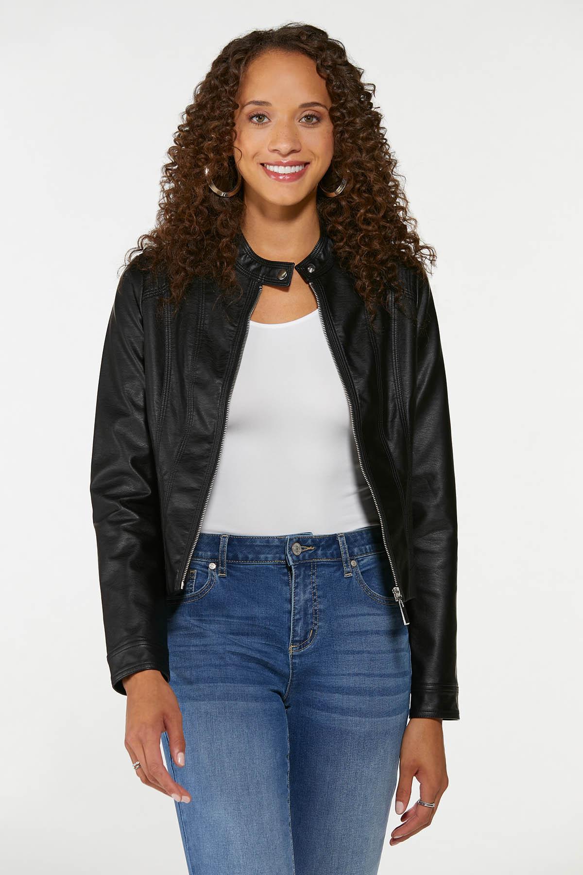 Faux Leather Jacket (Item #44717062)