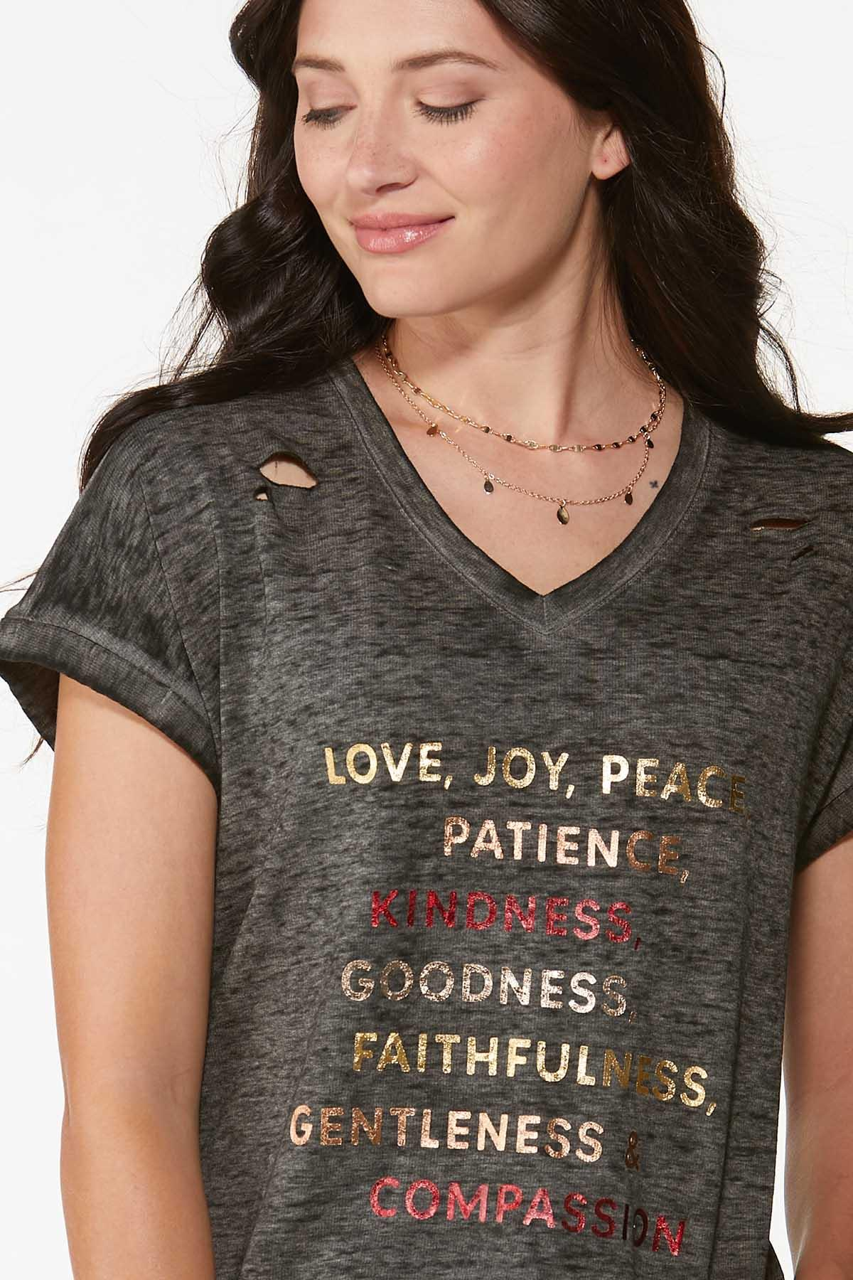 Plus Size Foiled Positive Vibes Tee (Item #44717152)