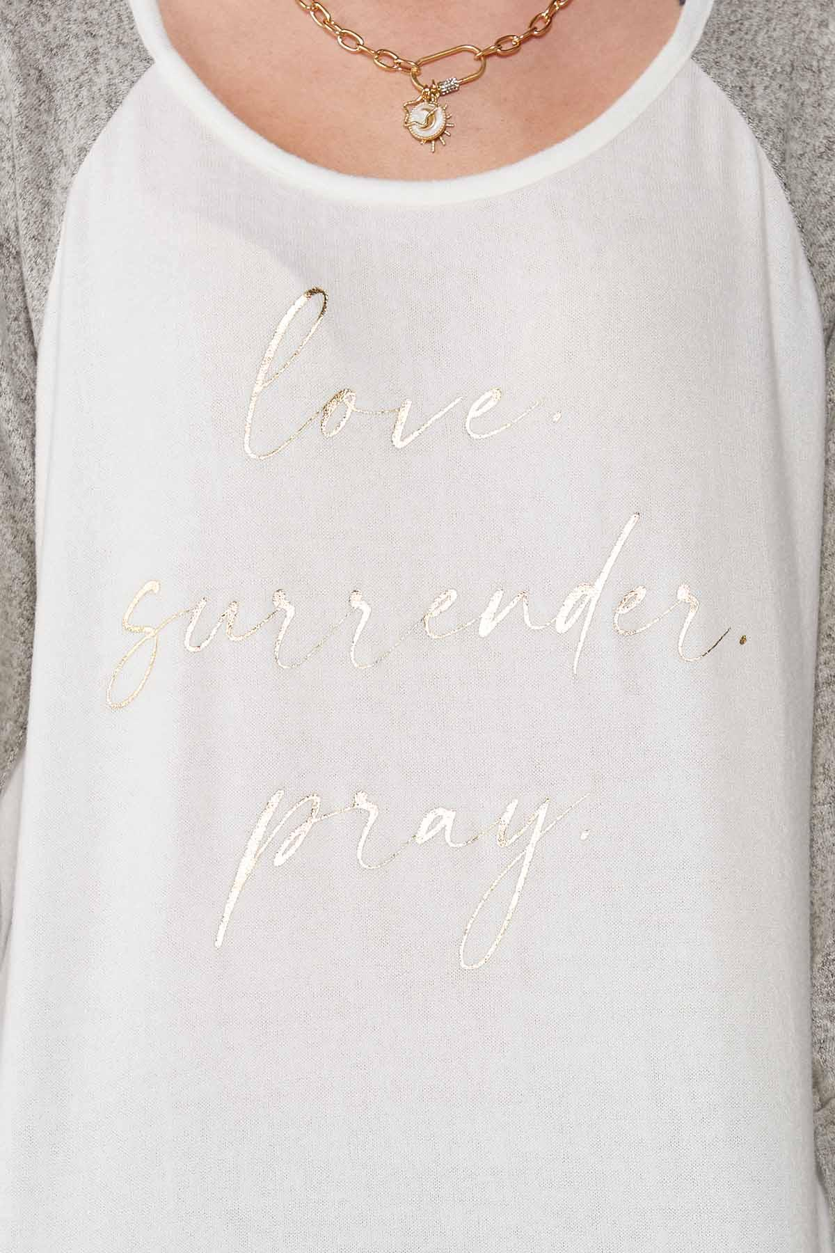 Plus Size Love Surrender Pray Top (Item #44717200)